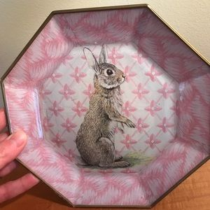 Bunny plate. Cute for Easter